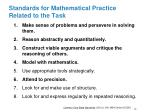 standards for mathematical practice related to the task