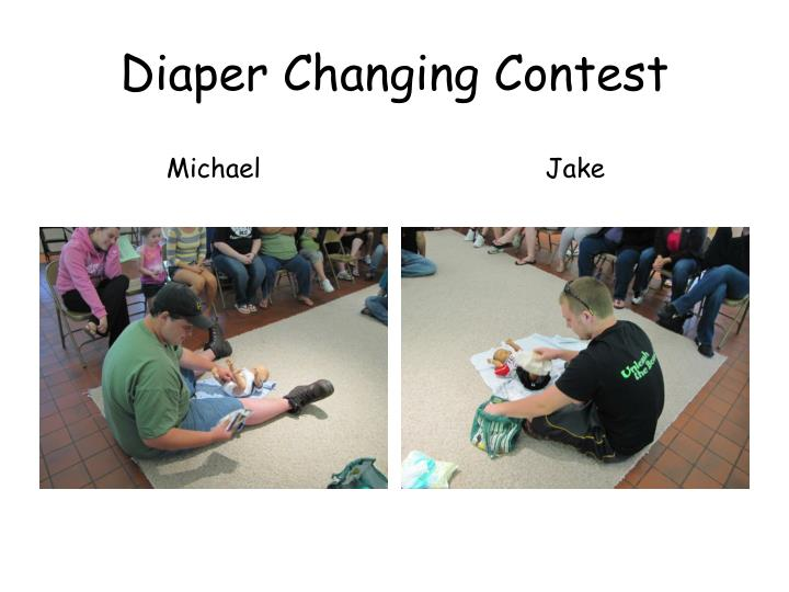 Diaper Changing Contest