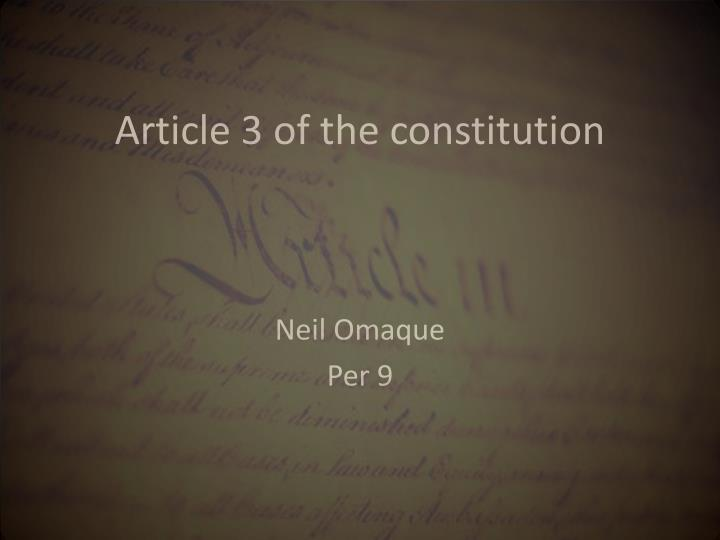 Article 3 of the constitution