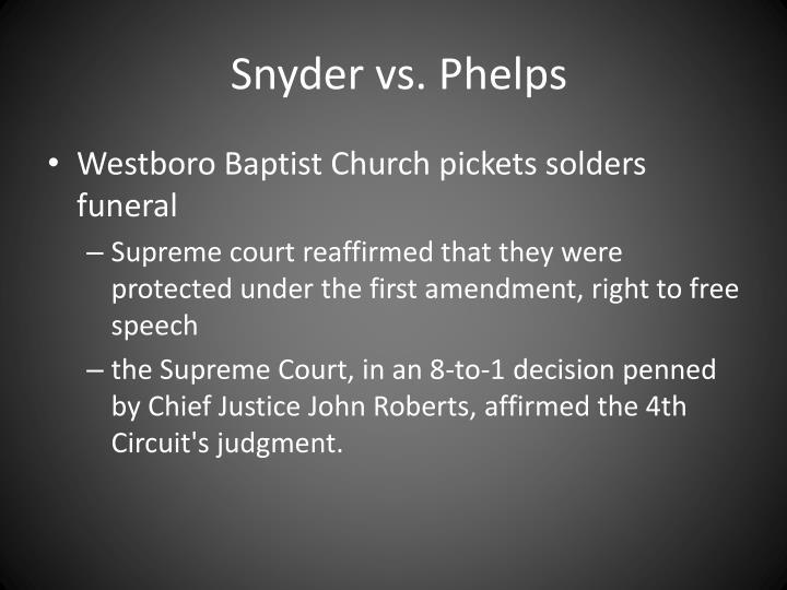 Snyder vs. Phelps