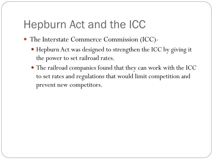 Hepburn Act and the ICC