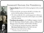 roosevelt revives the presidency