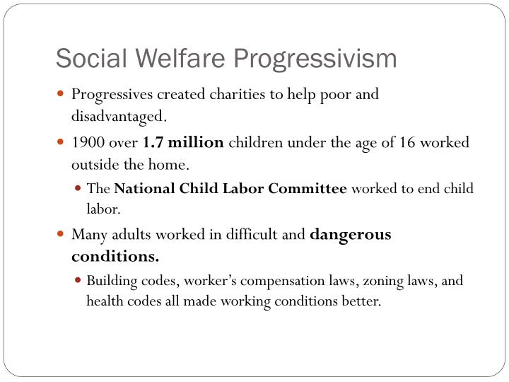 Social Welfare Progressivism