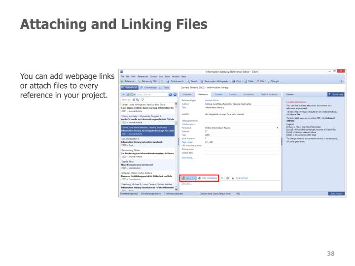 Attaching and Linking Files