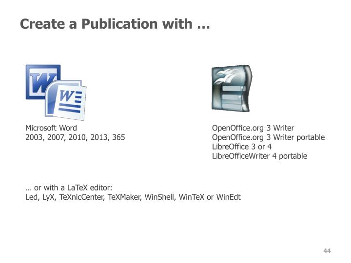 Create a Publication with …