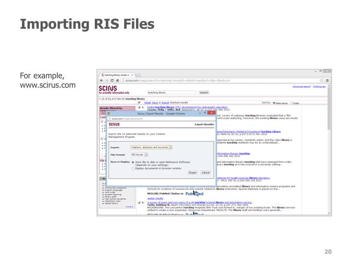 Importing RIS Files
