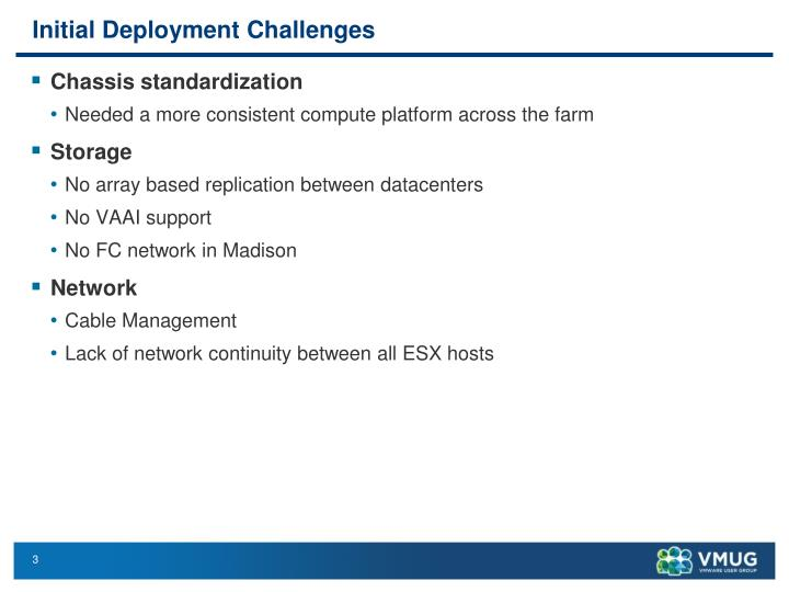 Initial Deployment Challenges