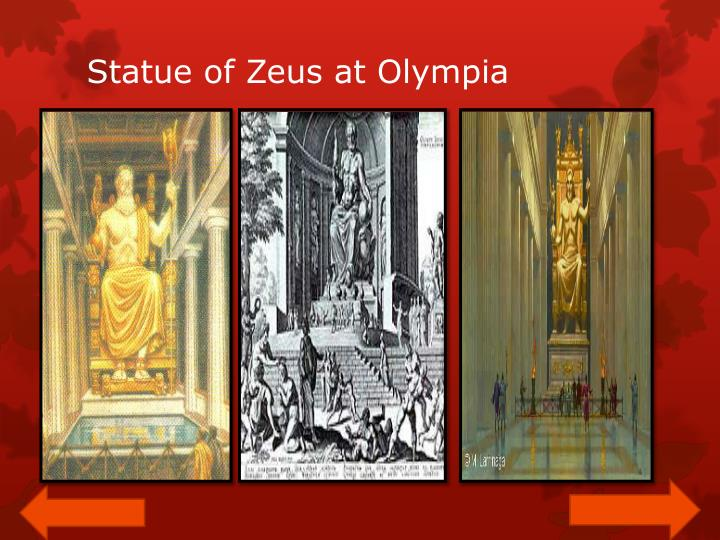 Statue of Zeus at Olympia