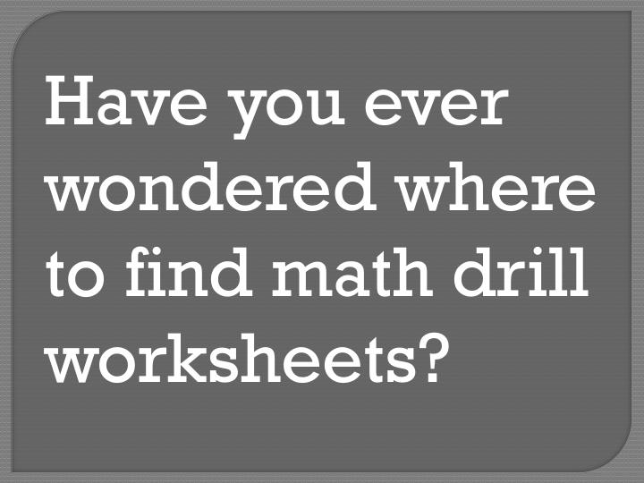 Have you ever wondered where