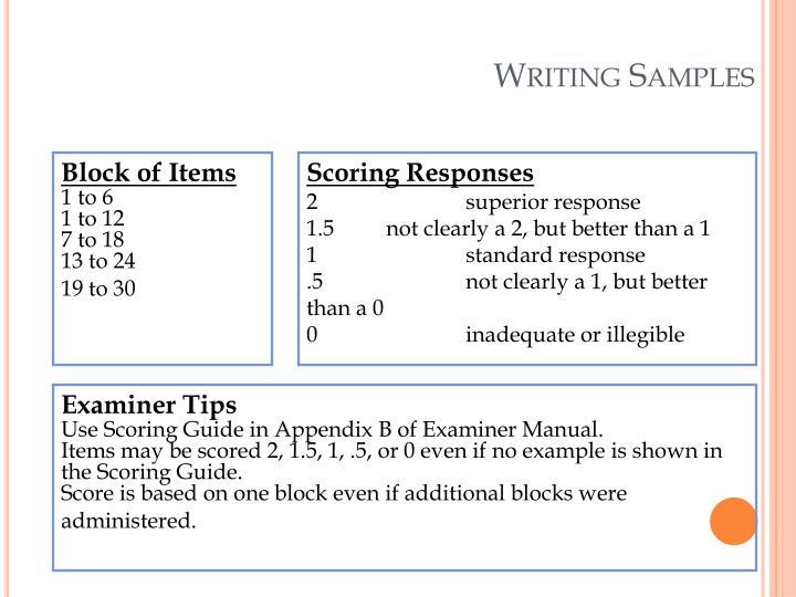 Writing Samples