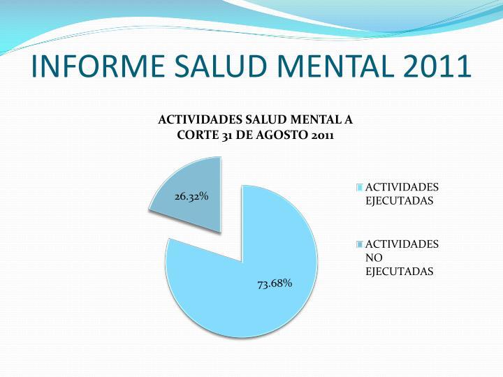 INFORME SALUD MENTAL 2011