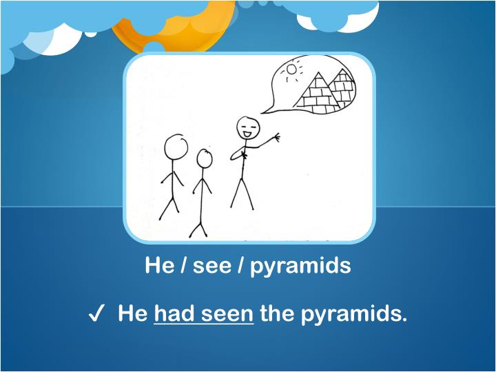 He / see / pyramids