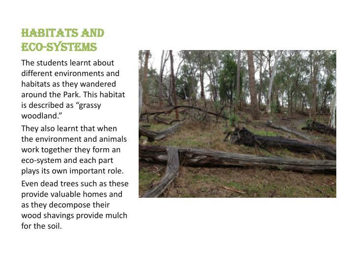 Habitats and eco-systems