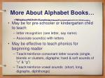 more about alphabet books