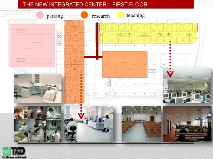 THE NEW INTEGRATED CENTER:   FIRST FLOOR