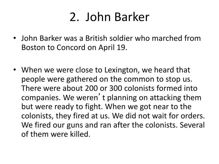 2.  John Barker
