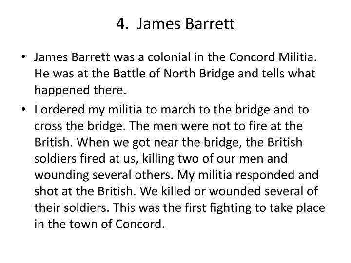 4.  James Barrett
