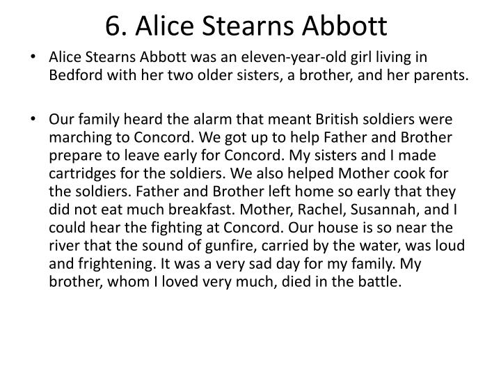 6. Alice Stearns Abbott
