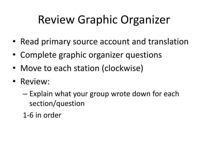 Review Graphic Organizer