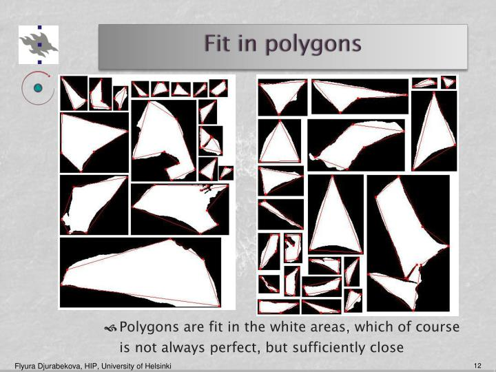 Fit in polygons