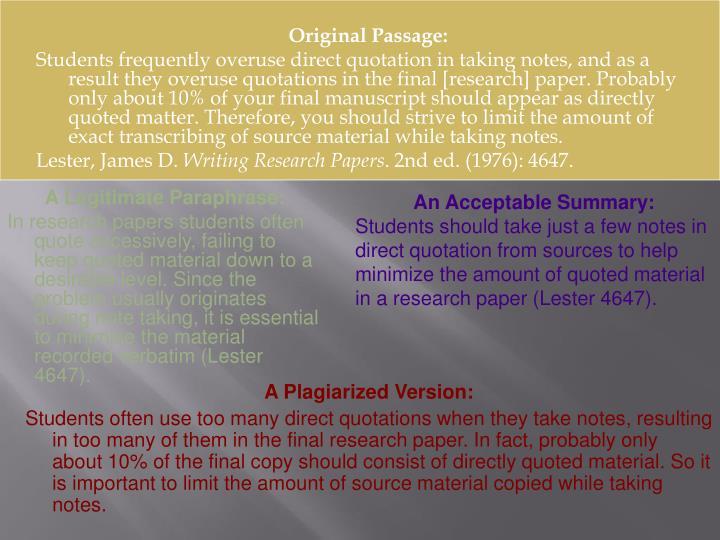 Original Passage: