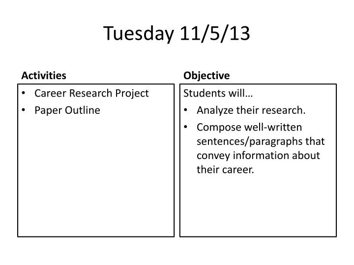 Tuesday 11/5/13