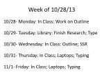 week of 10 28 13