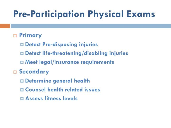 Pre-Participation Physical Exams