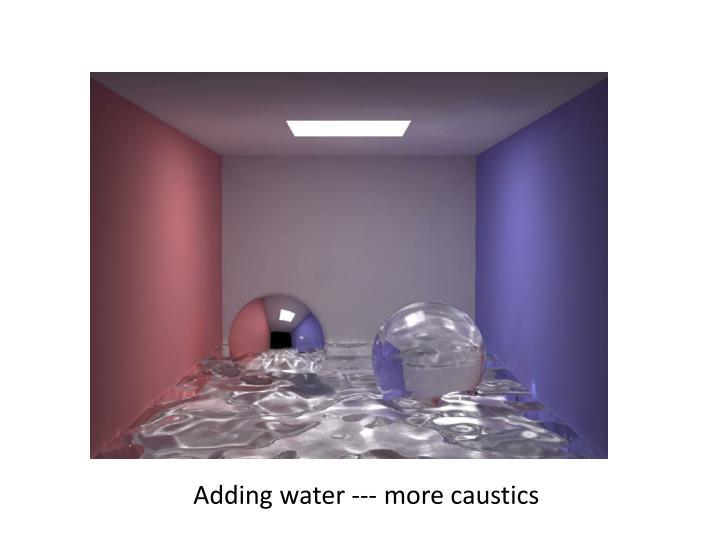Adding water --- more caustics