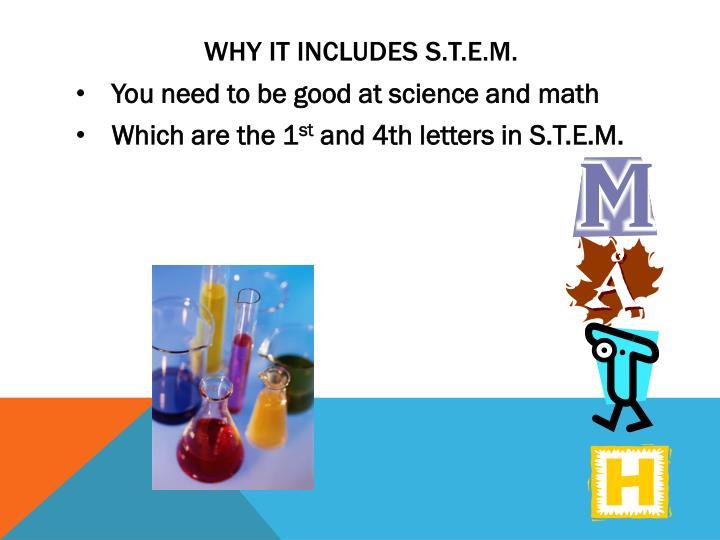 Why it includes S.T.E.M.