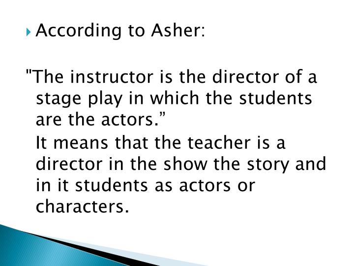 According to Asher: