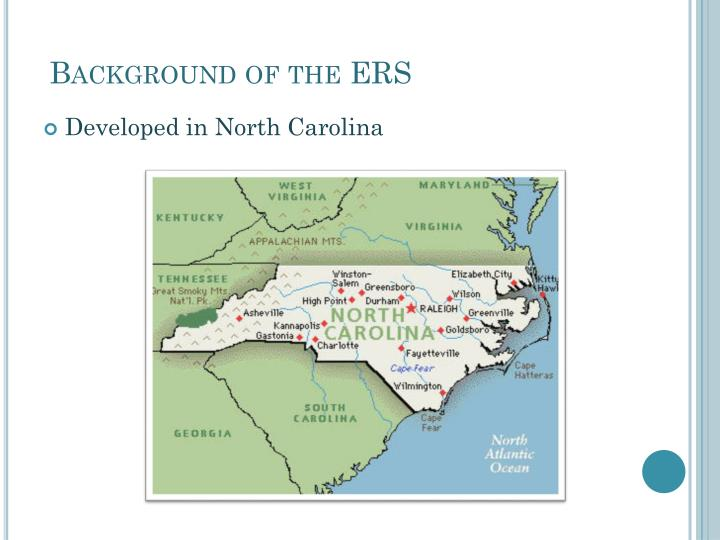 Background of the ERS