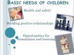 basic needs of children