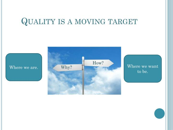 Quality is a moving target