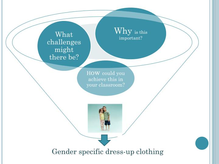 Gender specific dress-up clothing