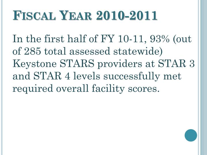Fiscal Year 2010-2011