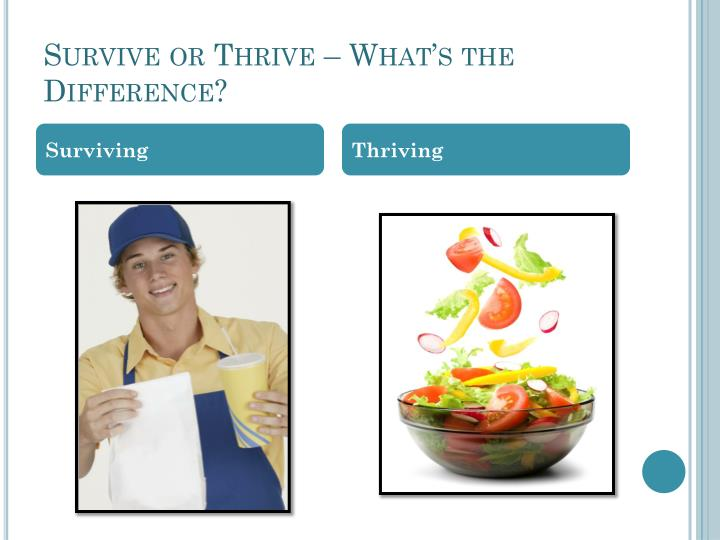 Survive or Thrive – What's the Difference?