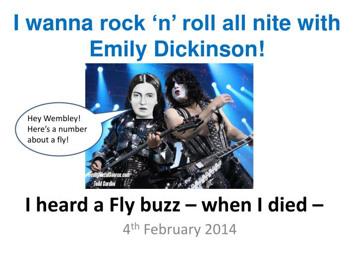 an analysis of the theme of death in i heard a fly buzz when i died by emily dickinson