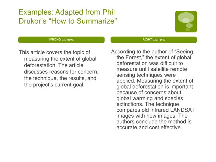 Examples: Adapted from Phil