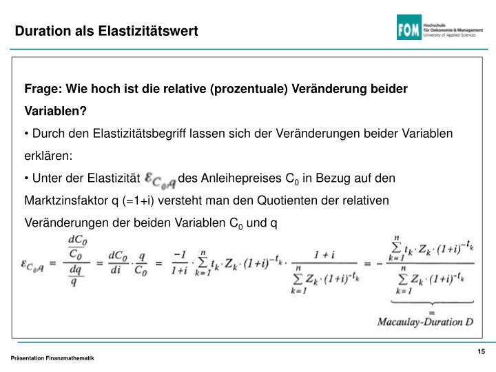 Frage: Wie hoch ist die relative (prozentuale) Veränderung beider Variablen?