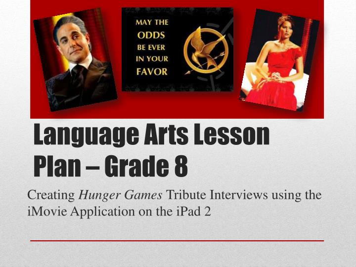 Language Arts Lesson Plan – Grade 8