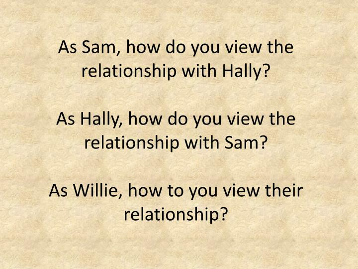 As Sam, how do you view the relationship with