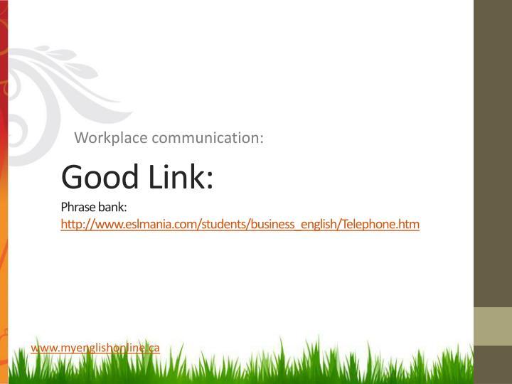 Good Link: