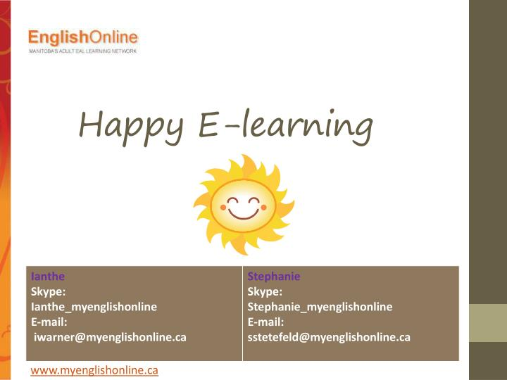 Happy E-learning
