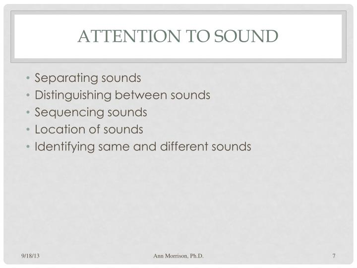Attention to Sound