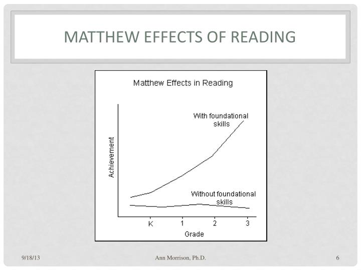 Matthew Effects of Reading