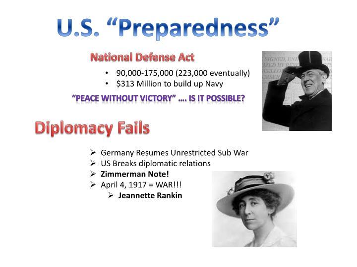 """U.S. """"Preparedness"""""""