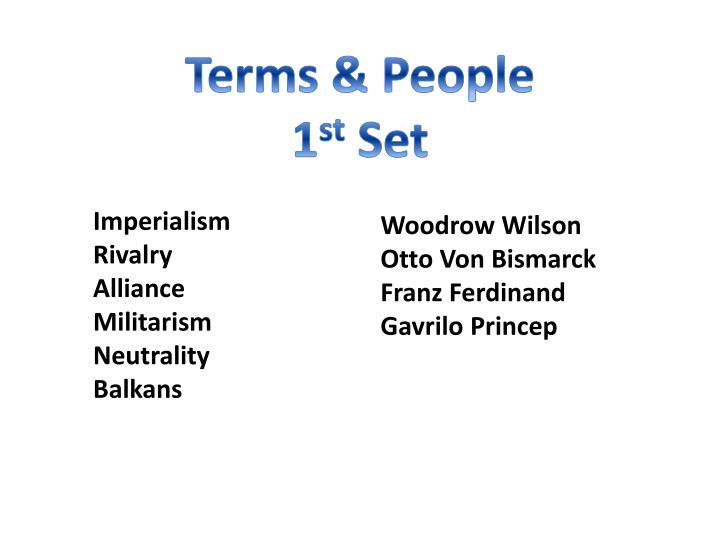 Terms & People