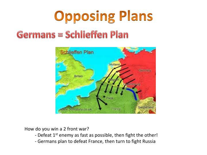 Opposing Plans