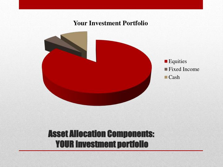 Asset allocation components your investment portfolio